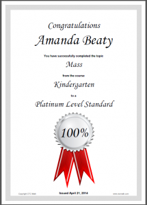 My most recent award certificate. Don't be jealous.