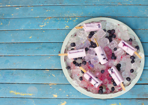 Organic Coconut Blueberry Popsicle